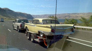 1959 Ford Galaxie heading west on I-84 along the Columbia Gorge. Special thanks to my wife Kara for snapping this shot.
