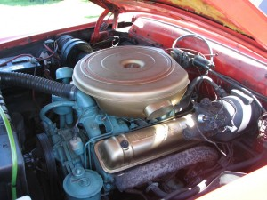 1957 Lincoln Premiere 2dr HT Engine